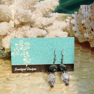 Artisan Surdigirl - Macinite & Quartz Earrings